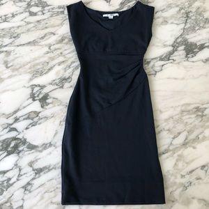 Diane von Furstenberg Navy Blue Bevin Sheath Dress